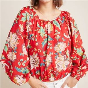 Anthropologie House Lake Floral Blouse-b9